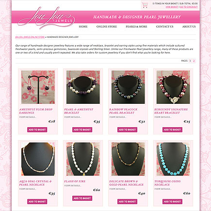 JouJouJewels.com website launches. Lovingly handmade jewellery for sale worldwide.