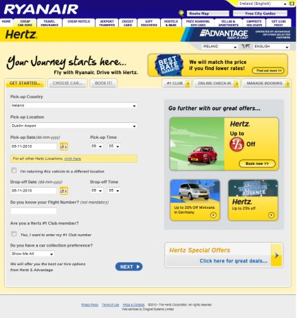 Hertz4Ryanair.com is relaunching in over 26 countries very soon