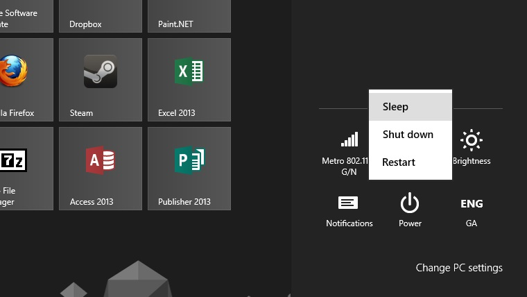 Stop Windows 8 turning off instead of going into sleep mode