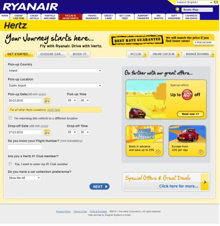 Dragnet Systems launches Hertz4Ryanair.com a brand new partner site for Hertz Europe and Ryanair