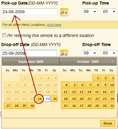 set the mindate of a second calendar using jquery ui