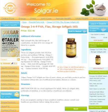 Solgar.ie launches