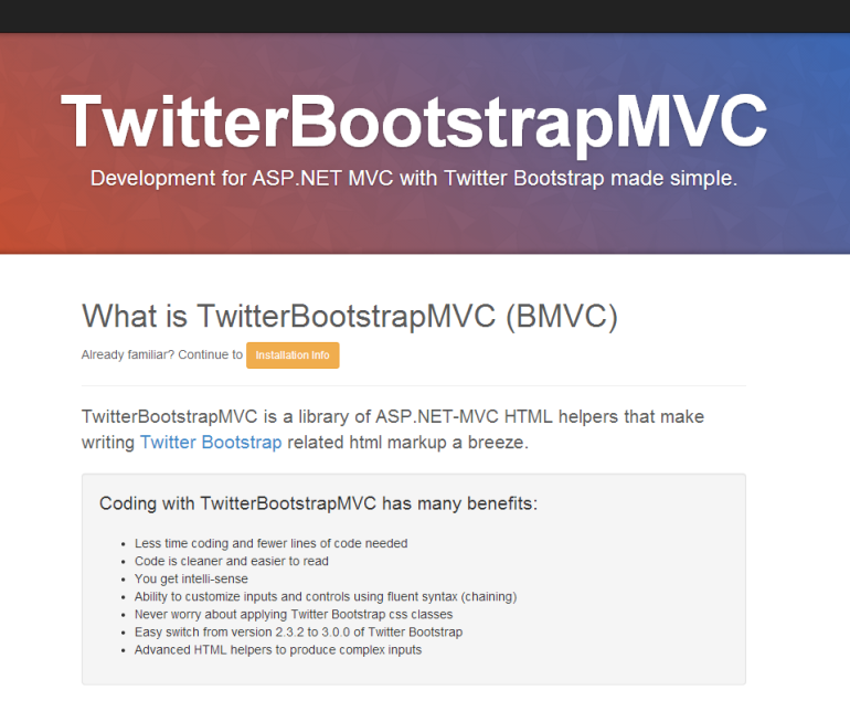 TwitterBootStrapMVC for MVC4