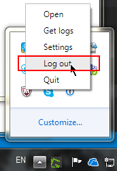 how to log out of MS Teams session