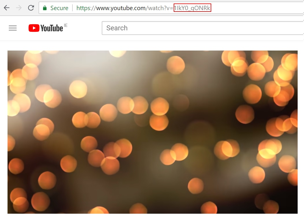 how to get the video id from a youtube url