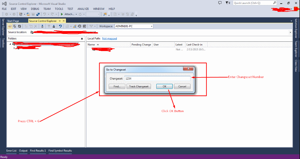 #FridayDevTip - How to search for a changeset in TFS using Visual Studio