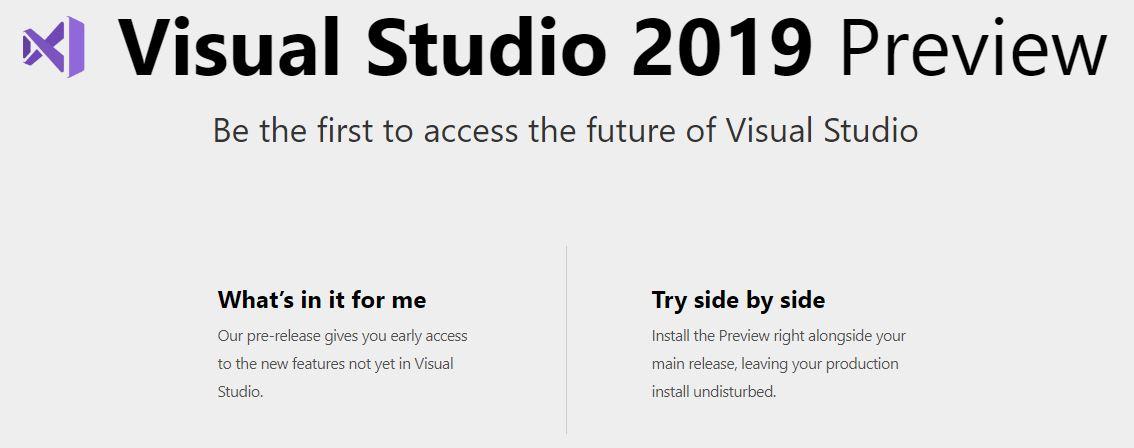 Visual Studio 2019 Preview