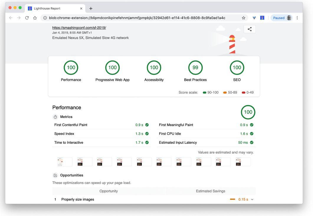 Smashing Magazine's Web Performance Checklist 2019